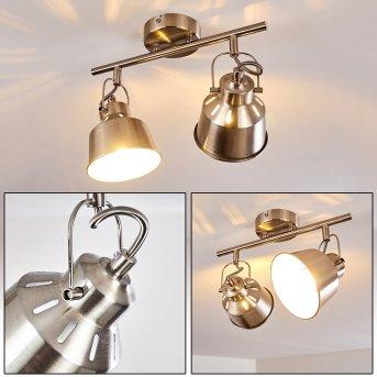 Ceiling Light Safari brushed  chrome, 2-light sources