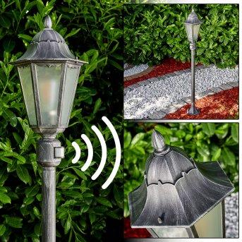Lignac outdoor Floor Lamp black, silver, 1-light source, Motion sensor