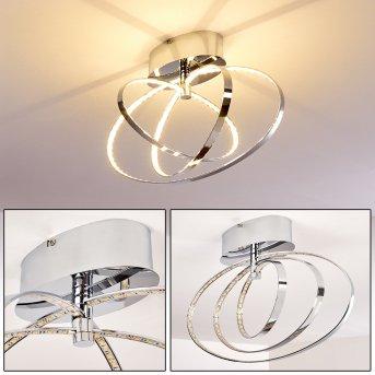 RingoS LED ceiling light chrome, 1-light source