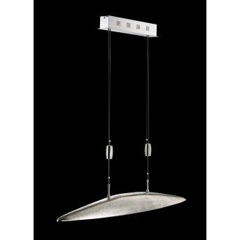 Fischer SHINE pendant light LED matt nickel, 5-light sources