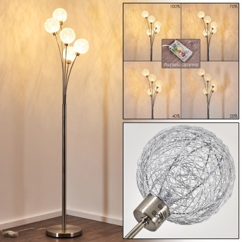 Bernado Floor Lamp matt nickel, 5-light sources