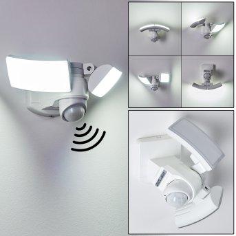 FOROYAR Outdoor Wall Light LED white, 2-light sources, Motion sensor