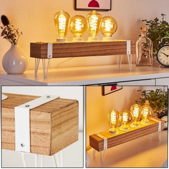TORREVIEJA Table lamp white, Light wood, 4-light sources