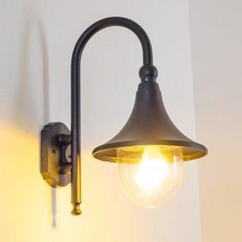 Elgin outdoor wall light black, 1-light source