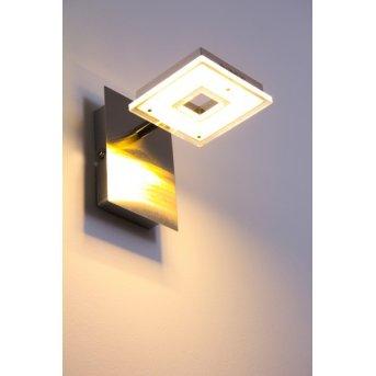 Globo Kerstin wall light LED matt nickel, 1-light source