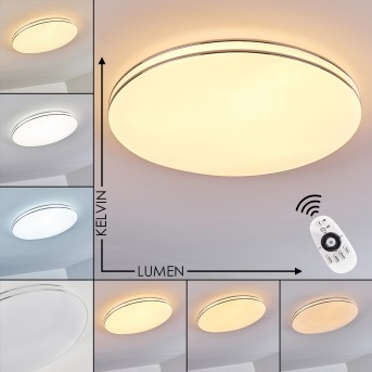 Genthin Ceiling Light LED white, 1-light source, Remote control