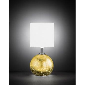 Wofi CARMEN table lamp gold, 1-light source