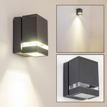 Haines outdoor wall light black, anthracite, 1-light source