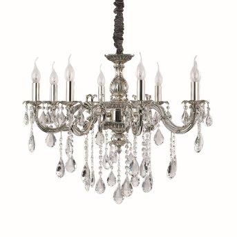 Ideal Lux IMPERO SP8 Chandelier silver, 8-light sources