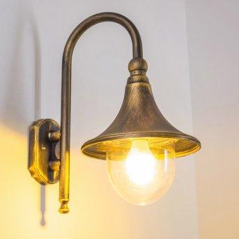 Elgin outdoor wall light black-gold, 1-light source