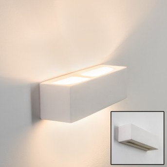 Gemini wall light white, 1-light source