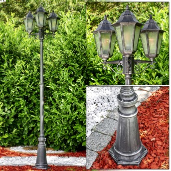 Lignac Lamp Post black, 3-light sources