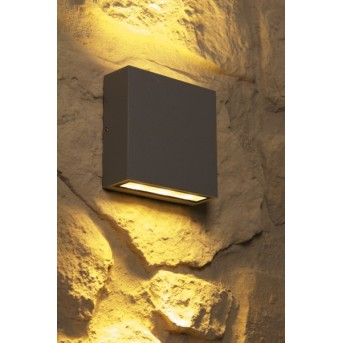 Trio THAMES outdoor wall lamp LED grey, 2-light sources