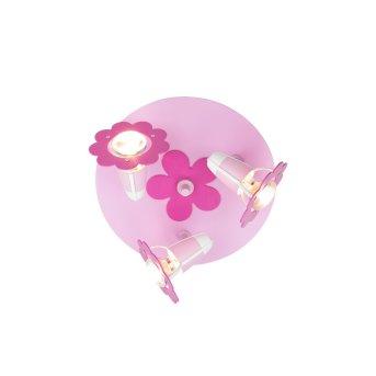 Elobra BLÜTE Spotlights pink, 3-light sources