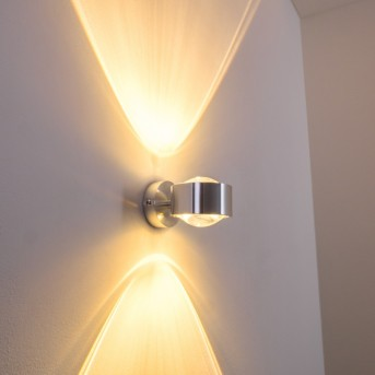 Sapri wall light silver, 1-light source