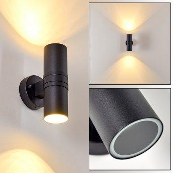 SATAVA outdoor wall light LED black, 2-light sources