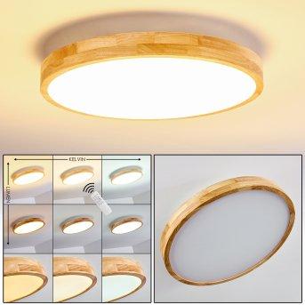 Bagaha Ceiling Light LED light wood, 1-light source, Remote control