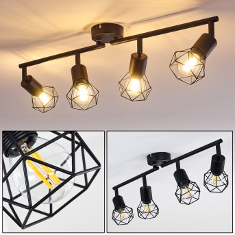 Baripada Ceiling Light black, 4-light sources
