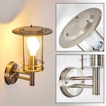 MULO outdoor wall light stainless steel, 1-light source