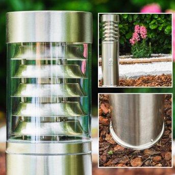 Dakar outdoor pedestal light stainless steel, 1-light source, Motion sensor