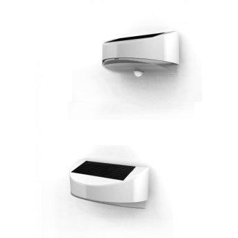 Lutec BREAD outdoor wall light LED silver, 1-light source, Motion sensor