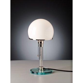 Tecnolumen Wagenfeld 24 Table lamp matt nickel, transparent, clear, 1-light source