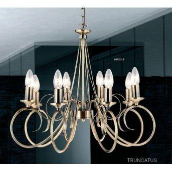 Globo TRUNCATUS hanging light brass, stainless steel, gold, 8-light sources