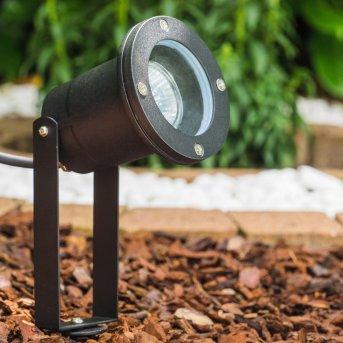 Pilsen garden spotlight black, 1-light source