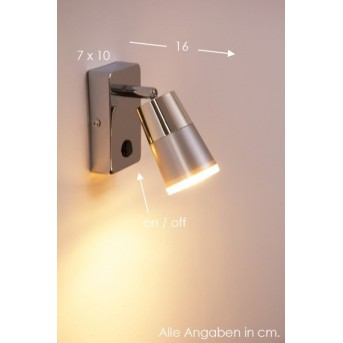 Leuchten-Direkt DALLI wall light LED chrome, 1-light source