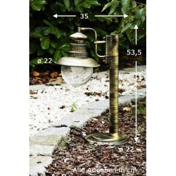 Brilliant Artu outdoor pedestal light brass, black, gold, 1-light source