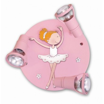 Waldi Ballerina round ceiling light pink, 3-light sources