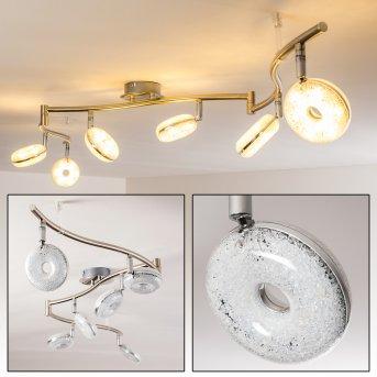 Donot Ceiling Light LED matt nickel, 6-light sources
