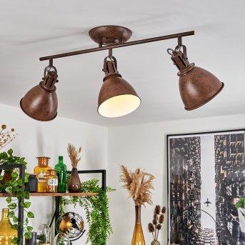 Ceiling Light Koppom rust-coloured, 3-light sources