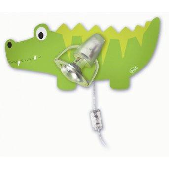 Waldi Krokodil wall light green , 1-light source