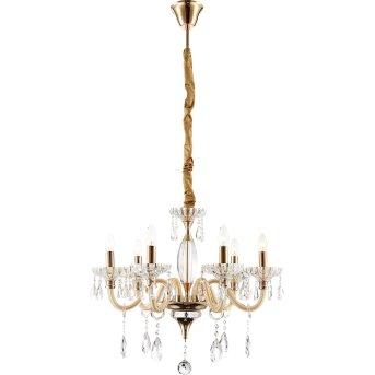 Globo MELISSA chandelier gold, 6-light sources