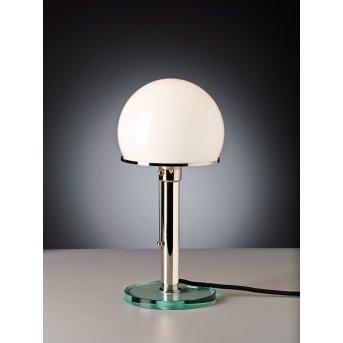 Tecnolumen Wagenfeld 25 Table lamp matt nickel, transparent, clear, 1-light source
