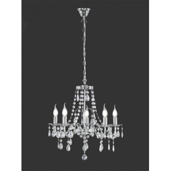 Reality BAROQUE chandelier chrome, 5-light sources