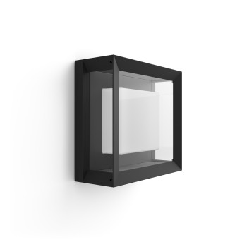 Philips HUE AMBIANCE WHITE & COLOR ECONIC Wall Light LED black, 1-light source, Colour changer