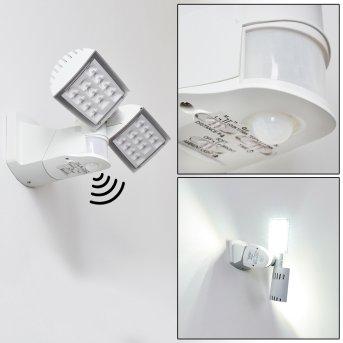 Loit Outdoor Wall Light LED white, 2-light sources, Motion sensor