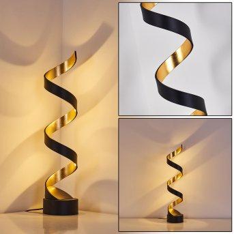 REZAT Table Lamp LED black-gold, 1-light source