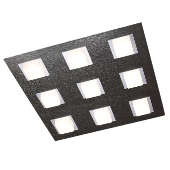 Grossmann BASIC Ceiling Light LED anthracite, 9-light sources