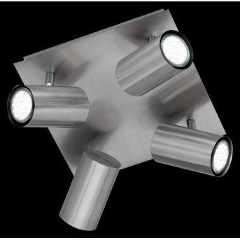 Trio 8024 ceiling light matt nickel, stainless steel, 4-light sources