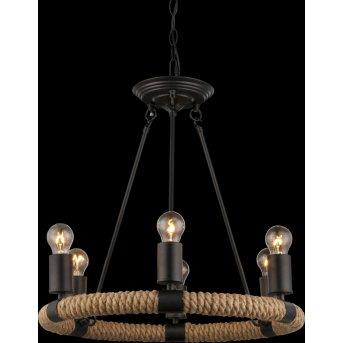 Globo ULLEU Pendant Light black, 6-light sources