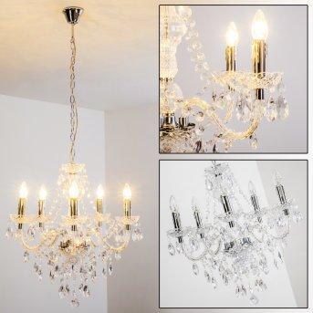 chandelier transparent, clear, 5-light sources