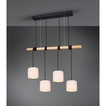 Reality ODIN Pendant Light LED black, 4-light sources