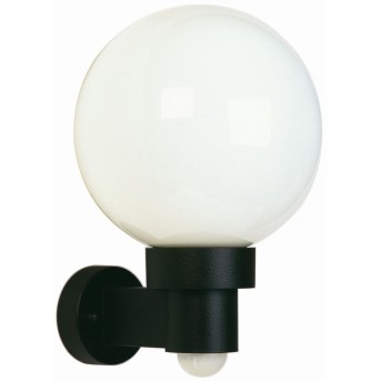 Albert 257 outdoor wall light black, 1-light source, Motion sensor