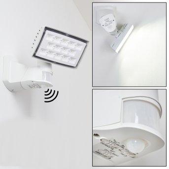 Loit Outdoor Wall Light LED white, 1-light source, Motion sensor