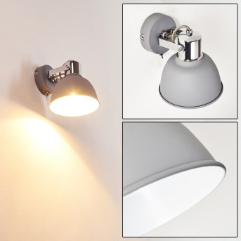 DOMPIERRE Wall Light grey, white, 1-light source