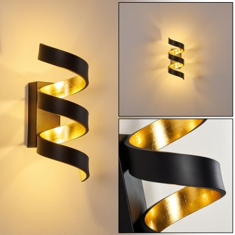 REZAT Wall Light LED black-gold, 1-light source