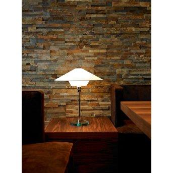 Tecnolumen Wagenfeld 28 Table lamp matt nickel, transparent, clear, 1-light source